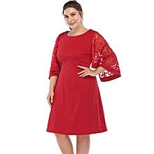 Women's Big size /Plus size short sleeve pencil dress