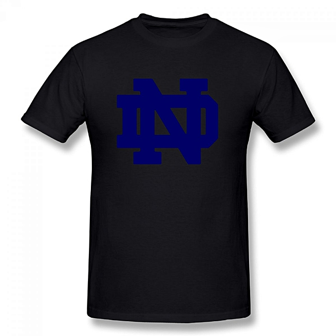 29de5184524 Notre Dame Fighting Irish College Football Men's Cotton Short Sleeve Print  T-shirt Black