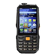 "DBEIF D2017 Analog TV 3.5 ""Handwriting 9800mAh Flashlight Power Bank Dual Sim Card FM Mobile Phone"