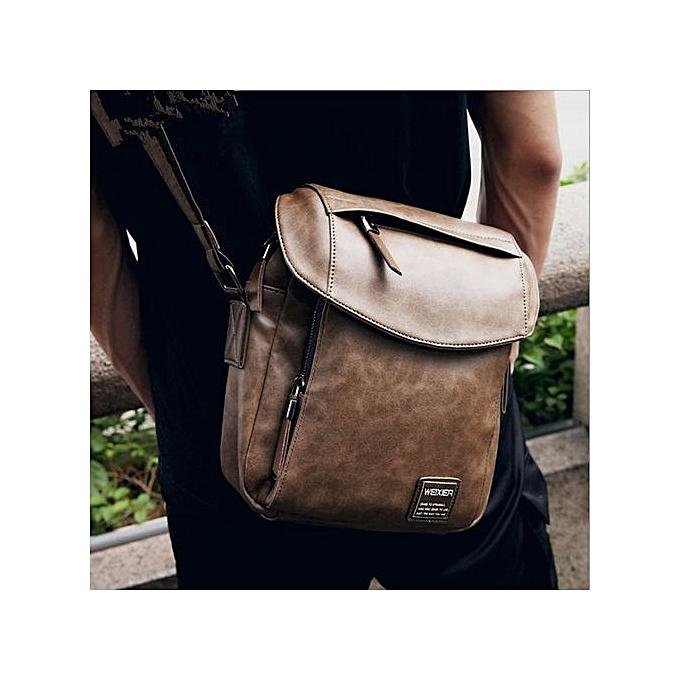 44979efb92 ... Summer New Men s Bag Messenger Bag Men Retro Shoulder Bag (Khaki) ...