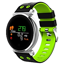 CACGO K2 Bluetooth 4.0 Nordic NRF52832 Chip Sleep / Heart Rate / Blood Pressure / Blood Oxygen / Calories Monitor Remote Camera Smart Watch for iOS / Android Phones-GREEN