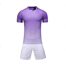 Customized Blank 2018 New Fashion Kids And Men's Football Soccer Team Sports Jersey Set-Purple