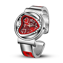 New ladies heart-shaped open bracelet watch explosion watch-red