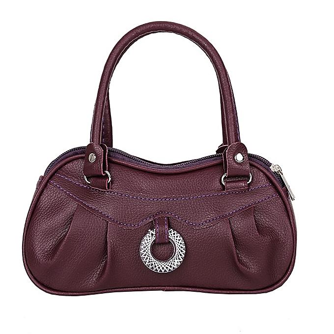 1b8991848cef Tectores Women Fashion Trend Pure Color Handbag Shoulder Bag Tote Ladies  Purse Gift