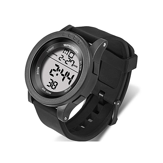 8e1c38d7b1 Military Sports Watch Mens Waterproof Simple Fashion Digital Watches  Silicone Strap Chronograph LED Electronic Watches Men