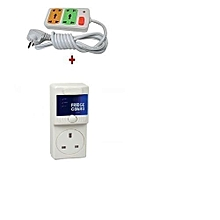 Fridge Guard 5A AVS Refrigerator voltage protector/ Surge Protector + Free 2way fused extension