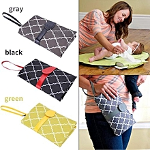 Baby Infant Portable Diaper Changing Pad Cover Mat Travel Foldable Nappy Bag Gray