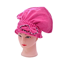 2019 bewelide Textile Microfiber Hair Turban Quickly Dry Hair Hat Wrapped Bath Towel Pink