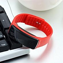 Creative LED Silicone Wristband Bracelet Fashion Fitness Sports Band Watch red