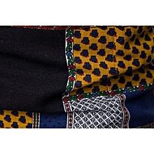 Mens Casual Long Sleeve Shirt Business Slim Fit Shirt Print  Blouse Top- Multicolor M   M