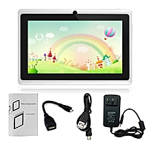 7-Inch HD Touch Screen EU Plug Children Tablet PC Quad-Core 512MB+8GB Tablet white