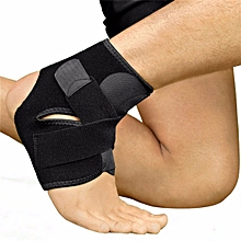 Safety High Elastic Adjustable Ankle Support Brace Band Guard, Foot Bandage for Sports Gym Running Protection black