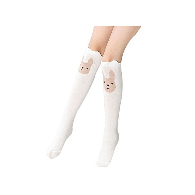 88814b37f ... Children Kids Girl Animal Rabbit Pattern Print Knee High Socks Cute  Socks WH ...