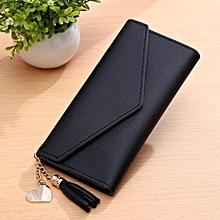 Chic Women Lady Clutch Long Purse Leather Wallet Card Holder Handbag Phone  Bag Black caf19e9814645
