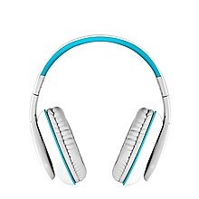 B3506 - Wired + Wireless Bluetooth Pro Gaming Headphones - White/Blue