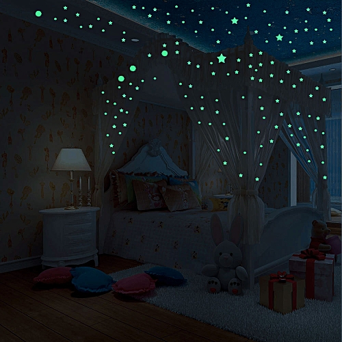 Generic Glow In Dark Wall Ceiling Moon Stars Stickers Wall Stickers
