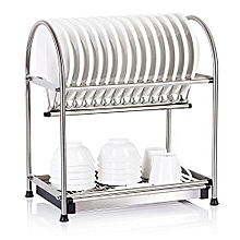 CX-1209 - Stainless Steel Dish Rack  - Silver