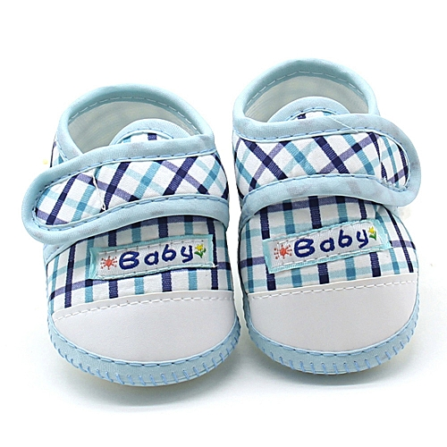 21880edb5dc2a Newborn Infant Baby Boys Girls Soft Sole Prewalker Warm Casual Flats Shoes-  Blue