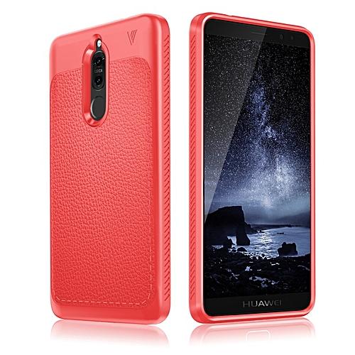 best service f9858 7f3cc For Huawei Nova 2i Case Gentry Series Leather Coated TPU Phone Case For  Huawei Nova 2i Shell (Red)