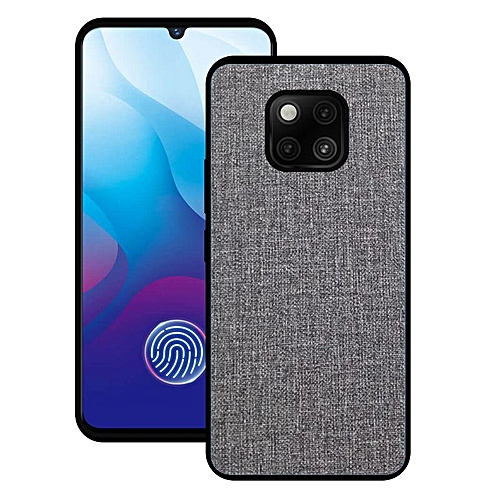 sneakers for cheap 5aefa c3c5a For Huawei Mate 20 Pro Soft TPU Hard PC Fabric Slim Case Cover (Gray)