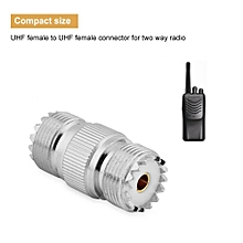 UHF Female Connector UHF Female to UHF Female Double Straight Coaxial Connector for Two Way Radio