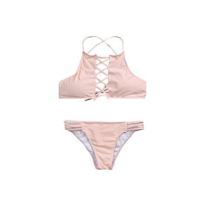 7e36129f65807 ... Xingbiaocao Push-up Padded Bra Swimsuit Bathing Sexy Women Bikini Set  Swimwear PK M ...