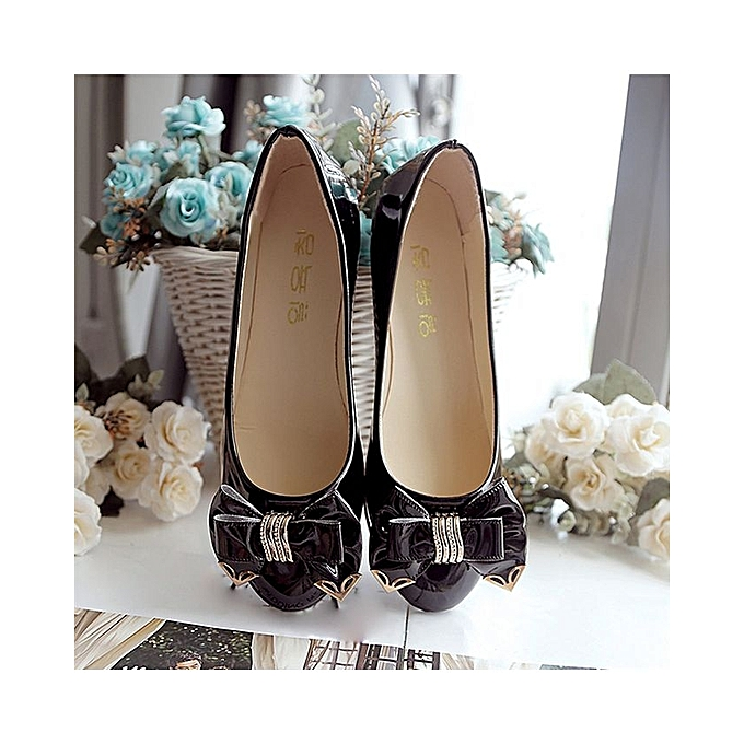 56710e4ba58 ... Spring Autumn Toe Flat Heel Bow Tie Shoes Women Fashion Women s Flat  Shoes-Black (