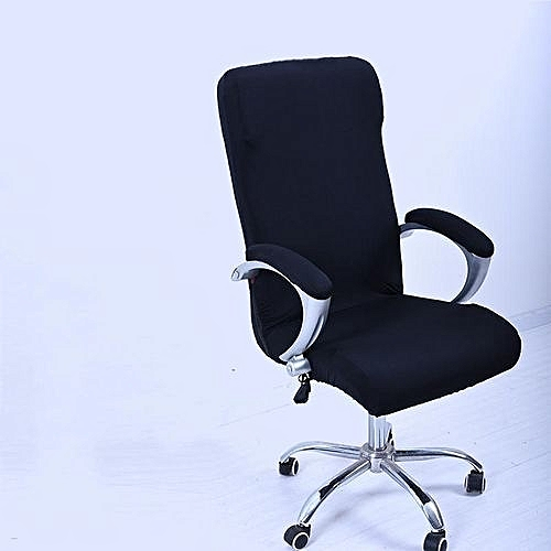 S Spandex Office Chair Cover Slipcover Armrest Computer Seat Stool Swivel Elastic