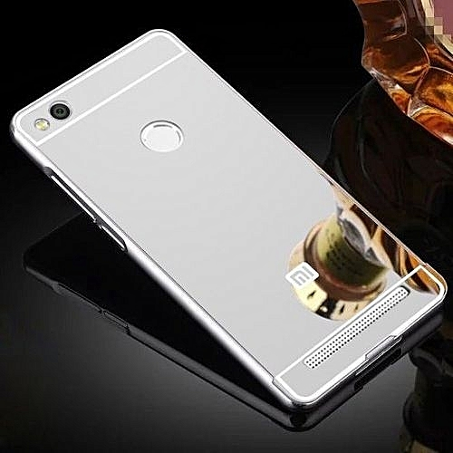 hot sale online b6b28 c46d0 Luxury Aluminum Metal Hybrid Case Hard Mirror Protective Cover For Xiaomi  Redmi 3 Pro 3s Red Mi 3s - Black 146104 (As Main Picture)