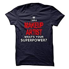 Makeup Navy blue T-shirt