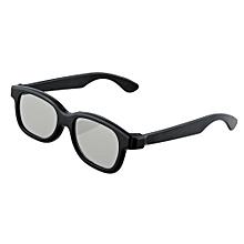 Black Round Polarized 3D Glasses for DVD LCD Video Game Theatre TV Theatre Movie