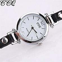 Fohting  CCQ Women Fashion Casual Analog Quartz Women Leather Watch Bracelet Watch -Black