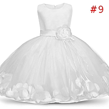 85f495eb00ed Rose Flower Girls Dress Kids Princess Petal Dresses Candy Color Sleeveless  Lace Tutu Gown Baby Girl