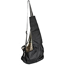 Oxford Cloth Single Shoulder Carrier Bag For Pet Dog M (Black)