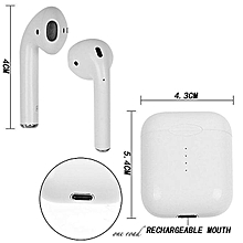 I10 TWS Stereo Portable In-ear Bluetooth Smart Touch Control Earphone Headphone Headset With Charging Box - White