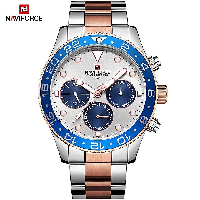 2d9925f63fba NAVIFORCE Top Brand Men s Stainless Steel Sport Watches Waterproof Analog Quartz  Wrist Watch Luxury Clock Male Relogio Masculino