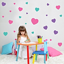 Color Heart Shaped Sticker Children's Room Wall Decoration