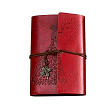 Classic Kraft Paper Strap Notebook Portable Creative Butterfly Diary Book Gift