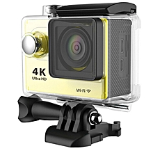 4K Ultra 30M Waterproof H9 Action Camera with wifi(Yellow) JY-M