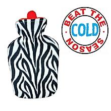 Hot Water Bottle with Zebra Fleece Cover- 2Ltrs