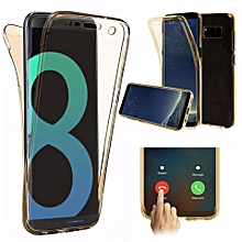 Scratch Proof 360 Front and Back Full Body Protection Flexible TPU Bumper Case Anti Scratch Protective Case Cover for Samsung Galaxy Note 8 XBQ-A