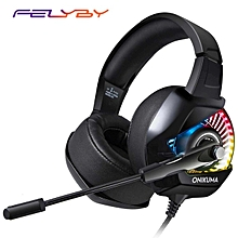 Latest game headset K6 computer game headset e-sports bass headphones with microphone