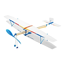 DIY Assembly Aircraft Powered By Rubber Band For Kids-