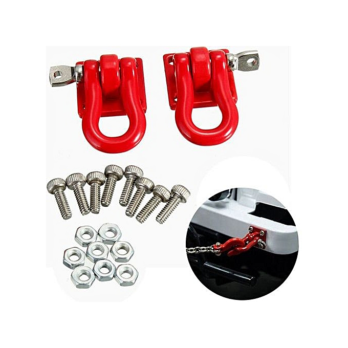 1 Pair Trailer Hook 1 10 Scale Accessory For Rc Crawler Scx 10 Truck