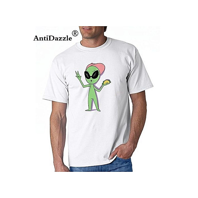 ba22d6d1 2017 Fashion Funny Casual Man Tops Tees Men's Taco Alien T-Shirt Cartoon Tee  Shirt