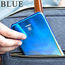 Baseus Phone Case For iPhone X Case Luxury Gradient Plating Hard PC Cases For iPhone X Cover Colorful Ultra Thin Phone Coque (Blue) FCJMALL