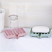 Creative Wheat Stalk Soap Holder Draining Shelf Bathroom Dish Storage Box pink