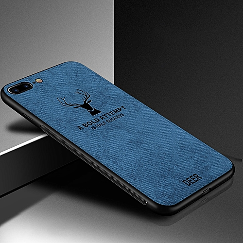 cheap for discount 8b6ad 933bf for iPhone X case Fabric Phone Cloth Cases for iPhone TPU Bumper Deer  Pattern Cover-Blue