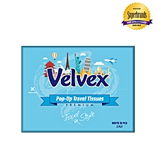 White Travel Facial Tissues - 50 Sheets (150MM x 215MM Sheet Size)
