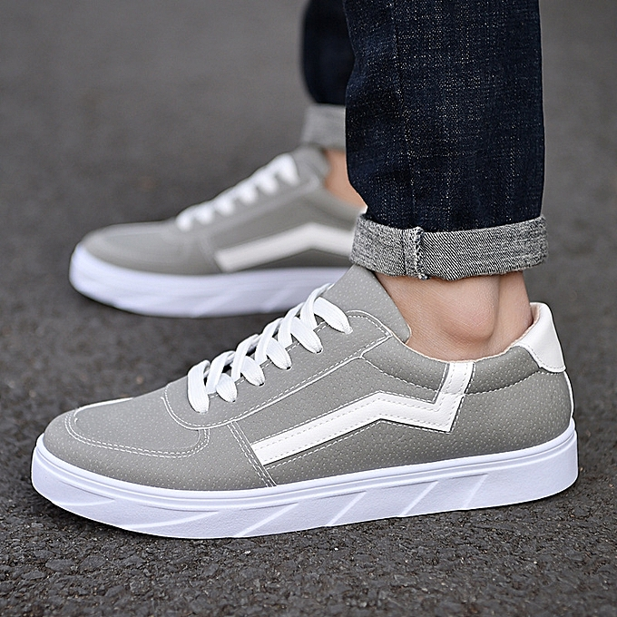f52316f99fe Fashion New Arrival Spring Summer Comfortable Casual Shoes Mens Canvas Shoes  For Men Lace-Up Brand Fashion Flat Loafers Shoe-grey